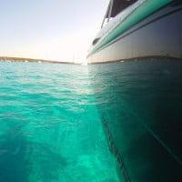 Aguas de Formentera desde el barco