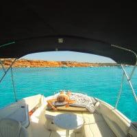 Calas de Formentera desde el barco