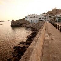 Paisaje Ibiza al atardecer