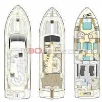 Distribución del barco de alquiler de A30nudos.com