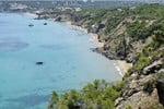 Platja d' Aigües Blanques a l'illa d'Eivissa
