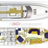 Plano de planta del barco de alquiler