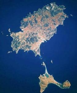 imagen satélite ibiza y formentera