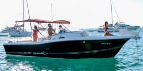 Alquilar una lancha White Shark 298 en Ibiza