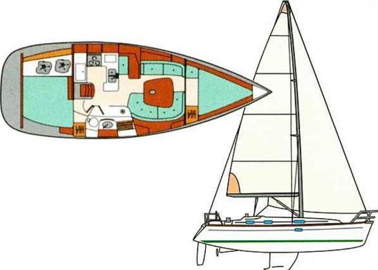 Velero Beneteau Oceanis Clipper 361