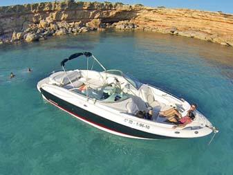 Lancha de alquiler en Ibiza y Formentera