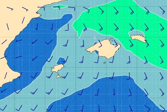 Gráfico de estado del mar Baleares