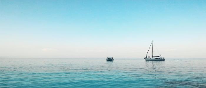 Barco fondeado. Ibiza